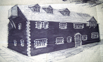 Impression of east elevation of the mill after alterations in 1976