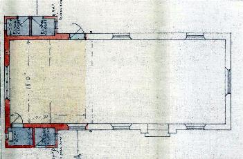 Plan of 1933 showing the proposed extension to the left [RDBP2-329]