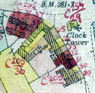 5-7 Heath Green on 1927 valuation map