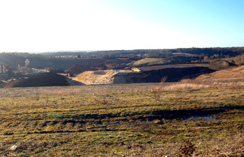 Bryants Lane Pit seen from Overend Green January 2009