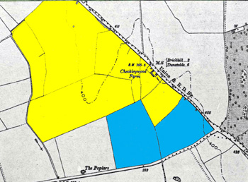 Checkleywood farm land in 1884 and 1888