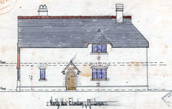 North-west elevation of Heath Schoolhouse 1862