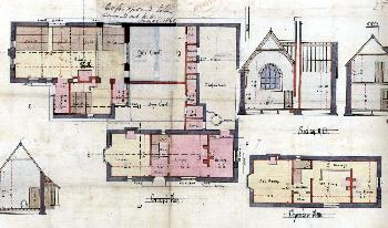 Plan of Heath School in 1862 AD3865-19-3