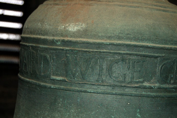 Richard Wige's name on the bell January 2009