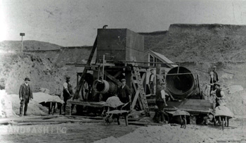Sand washing about 1910