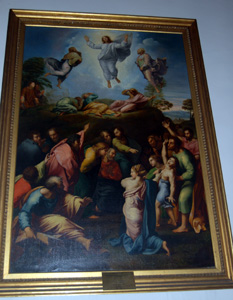 The copy of Transfiguration by Raphael