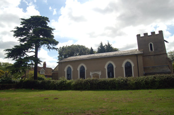 The church and Heath Manor from the north-west June 2008