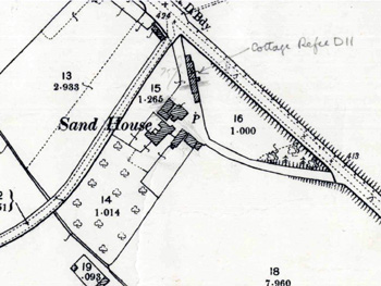 The Sand House on the Ordnance Survey 2nd edition map of 1901