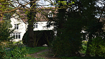 Higham Gobion Manor from the churchyard April 2015