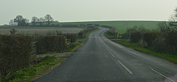 The road to Higham Gobion looking north-east April 2015