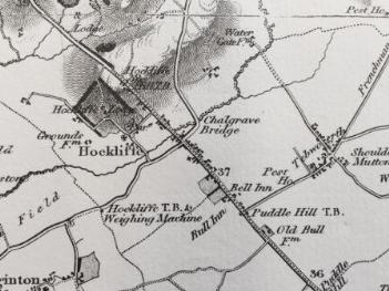 Bryants Map of 1826 showing The Bell