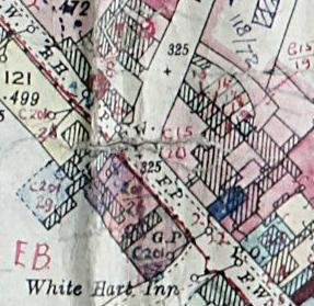 Extract from the 1926 Valuation Map showing The Limes