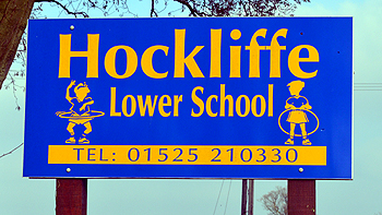 Hockliffe Lower School sign February 2013