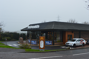 McDonald's on the site of The Bell November 2014