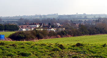 The village seen from Church End February 2013
