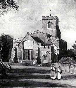 The church from the east - 1843