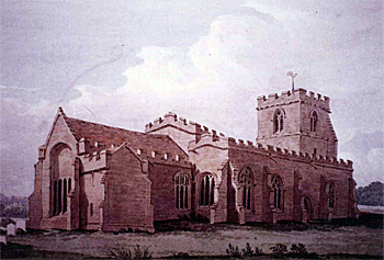 The church from the north-east by Fisher - about 1820 [Z49-372]