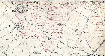 Field names in the south of the parish