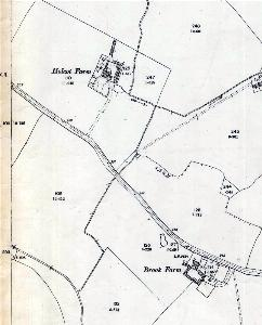 Holcot Farm and Brook Farm in 1901