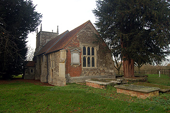Hulcote church from the south-east December 2011