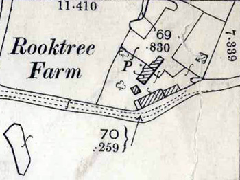 Rooktree Farm shown on a map of 1901