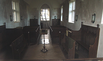 The church interior looking west December 2011