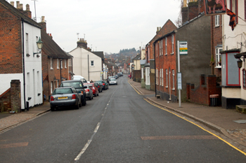 Markyate High Street looking south January 2010