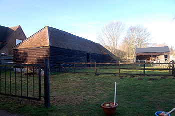 Farm buildings adjacent to 59 Crow Lane January 2012