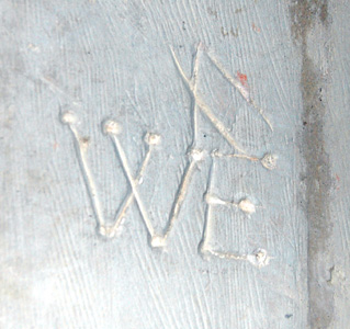 Graffiti from a pillar in the north arcade January 2011