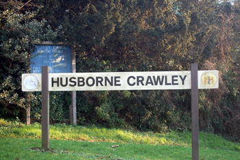 Husborne Crawley sign January 2011