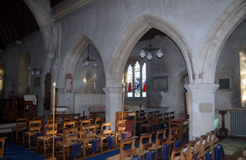 The view into the south aisle January 2011