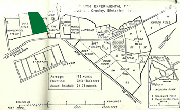 Workhouse Field shown in green