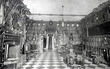 interior of Ickwell Bury around 1900 [Z50/16/125]