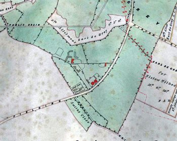 Ion about 1851 [MA66] note the top of the map is north-east