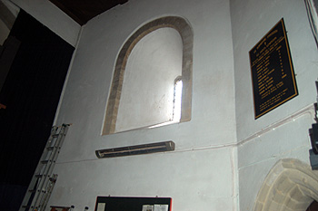 Interior of the Norman window in the tower March 2012