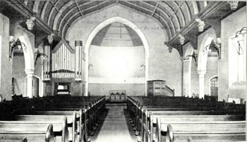 The interior of Kempston East Methodist Church in 1904 [Z50/67/105]