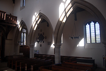The view into the north aisle looking west March 2012