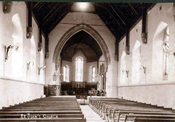Image of the interior of Saint John's Church from around 1910