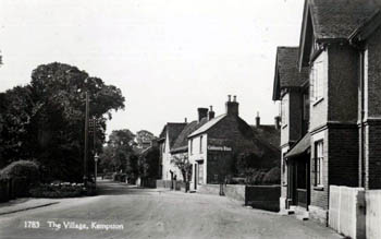 Kempston High Street looking west from the Half Moon about 1920