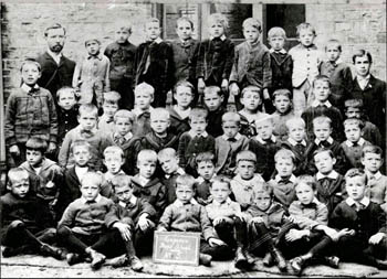 Up End Boys School class group in 1896 [Z50/67/11a]