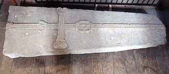 13th century coffin lid in the north aisle March 2012