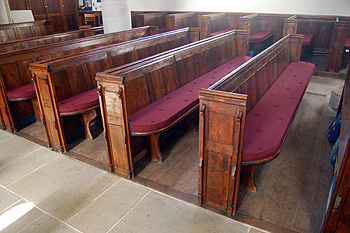 Benches in the nave March 2012