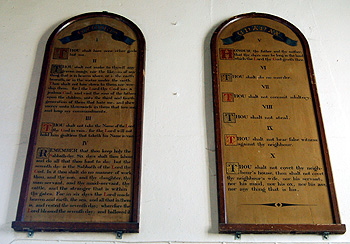 The Ten Commandments over the south door March 2012