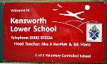 Kensworth Lower School sign January 2012