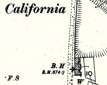 The California Beerhouse shown on a map of 1901