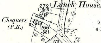 The Chequers on a map of 1901