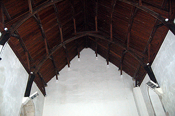 The chancel roof June 2012