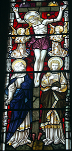 The crucifixion from the chancel east window June 2012