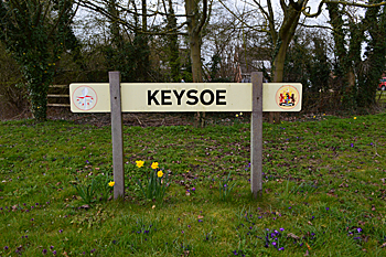Keysoe sign March 2016