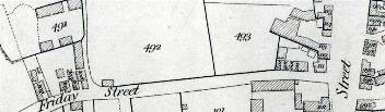 1819 Map of Friday Street
